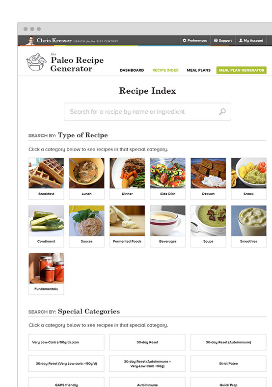 Section image recipe indexg the database by recipe name or even by ingredient craving something with blueberries find recipes choose one and drop it right into your meal plan forumfinder Choice Image
